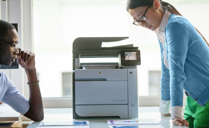 How to fix user intervention on the HP printer?