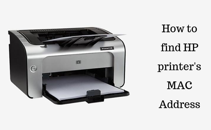 How to find HP printer's MAC Address?