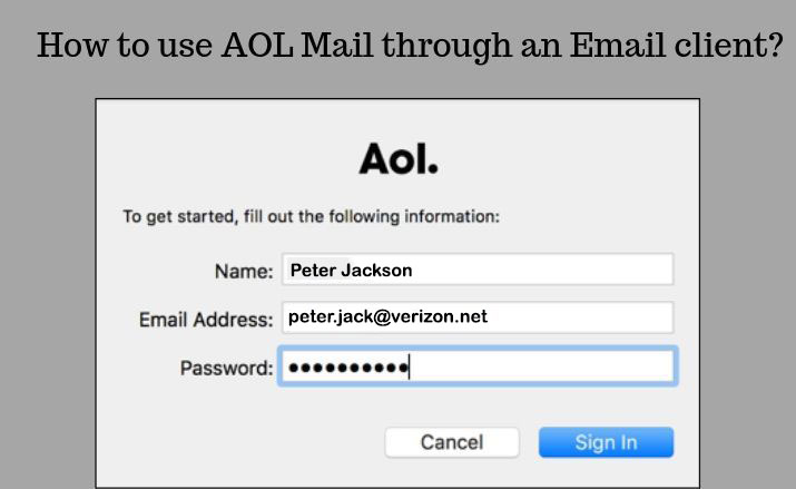 How to use AOL Mail through an Email client?